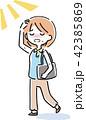 女性 熱中症 脱水症状のイラスト 42385869