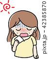 女性 熱中症 脱水症状のイラスト 42385870