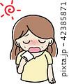 女性 熱中症 脱水症状のイラスト 42385871