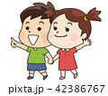 子供 男の子 女の子のイラスト 42386767