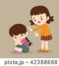 子 子供 慰めるのイラスト 42388688