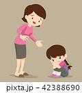 子 子供 慰めるのイラスト 42388690
