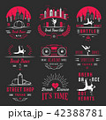 Vector Set of Badges, Logos and Sign Break Dance 42388781