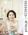 シャンパングラス 女性 女の写真 42394390