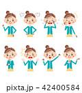 女性 感情 表情のイラスト 42400584