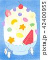 かき氷 白熊 スイーツのイラスト 42400955