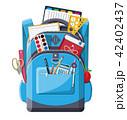 Back to school. School supplies in backpack. 42402437