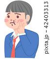 ニキビ 男の子 学生のイラスト 42403313