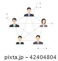 ネットワーク ビジネスマン ビジネスウーマンのイラスト 42404804