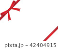 リボン プレゼント 贈り物のイラスト 42404915