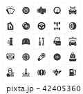 Icon set - garage and auto filled icon style  42405360