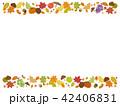 秋 フレーム 枠のイラスト 42406831