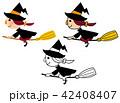 ハロウィン 仮装 魔法使いのイラスト 42408407