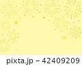 花火 背景 星のイラスト 42409209