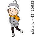 子供 スケート 男の子のイラスト 42410682