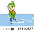 子供 スケート 男の子のイラスト 42410687