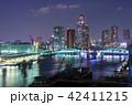 勝鬨橋 夜景 ライトアップの写真 42411215