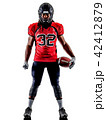 american football player man isolated 42412879