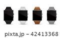 スマートウォッチ腕時計4色のベクターイラスト白バック 42413368