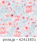 Flowers and leaves pattern 42413831