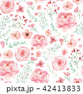 Flowers and leaves pattern 42413833