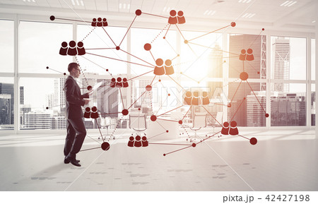 Networking and social communication concept as effective point for modern business 42427198