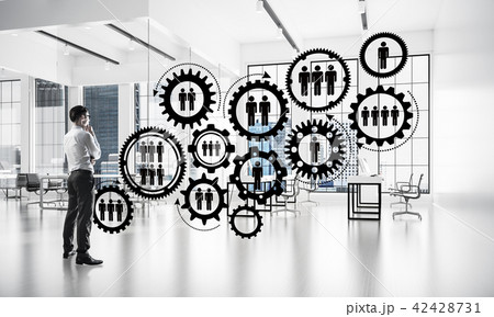 Networking and social communication concept as effective point for modern business 42428731