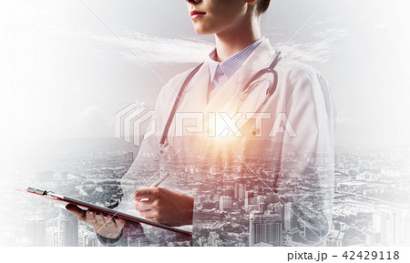Confident medical industry employee 42429118