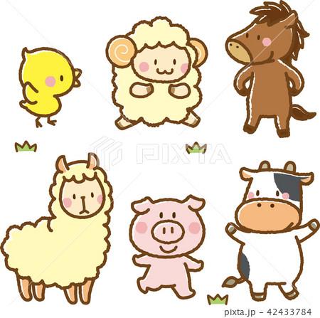 動物素材セット2(牧場の動物) 42433784