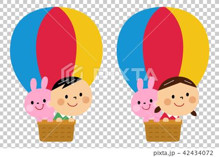 気球に乗った子供 42434072
