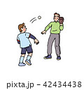 パパとキャッチボール 42434438