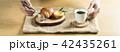 パン 食事 トレイの写真 42435261