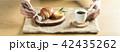 パン 食事 トレイの写真 42435262