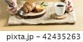 パン 食事 トレイの写真 42435263
