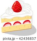 ショートケーキ ケーキ 洋菓子のイラスト 42436837