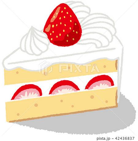 イチゴのショートケーキのイラスト素材 42436837 Pixta