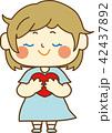 女の子 ハート バレンタインデーのイラスト 42437892
