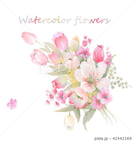 透明水彩 水彩画 花 42442169
