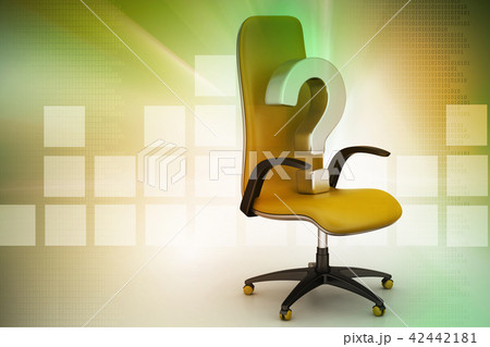 an empty chair with  question mark 42442181