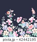 透明水彩 水彩画 花のイラスト 42442195