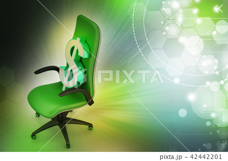 Dollar sign sitting the executive chair 42442201