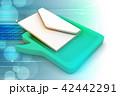 アイコン 投函 郵便のイラスト 42442291