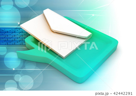 Speech bubble with mail 42442291
