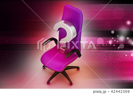 an empty chair with  question mark 42442309