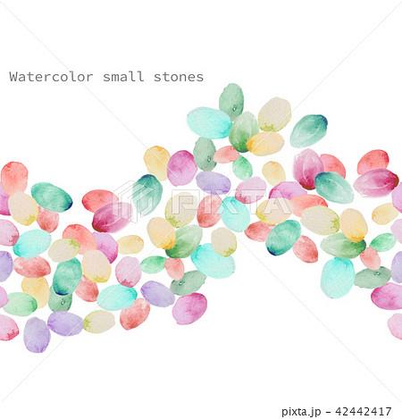 透明水彩 水彩画 水玉模様 42442417