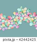 透明水彩 水彩画 水玉模様のイラスト 42442425