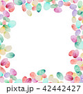 透明水彩 水彩画 水玉模様のイラスト 42442427