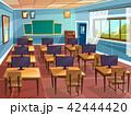 教室 空いている 空っぽのイラスト 42444420