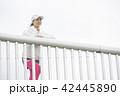 人物 女性 ランニングウェアの写真 42445890