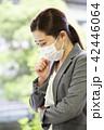 マスクを付けた日本人女性 42446064